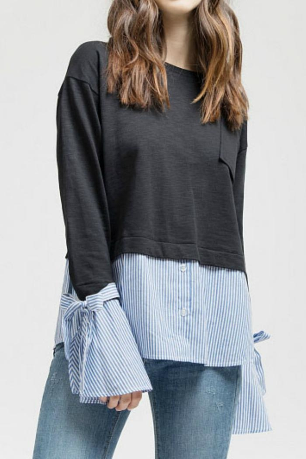 Blu Pepper Sweater Top - Front Cropped Image