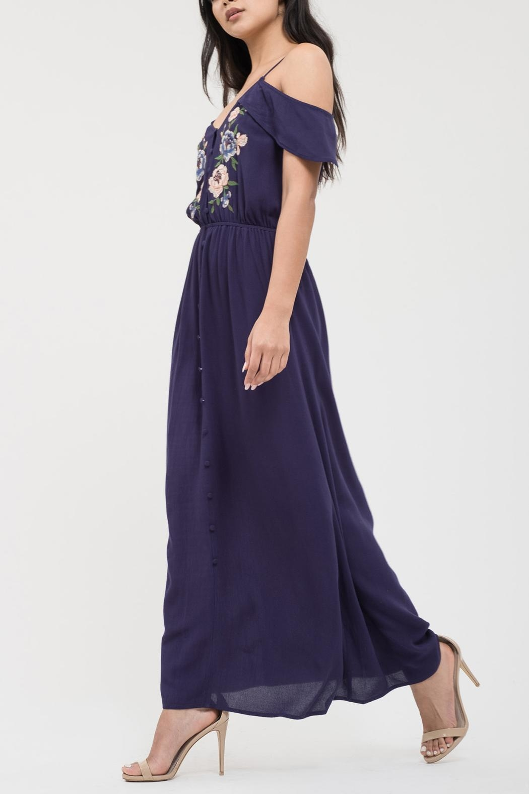 Blu Pepper Sweetheart Embroidered Maxi - Front Full Image
