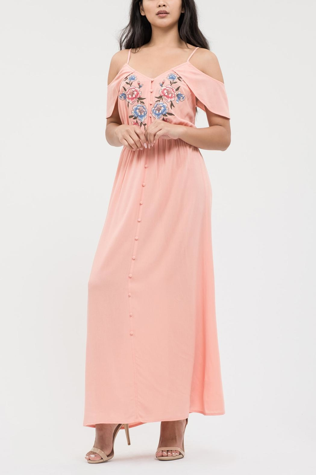 Blu Pepper Sweetheart Embroidered Maxi - Main Image