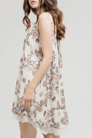 Blu Pepper Tan Floral Dress - Front full body