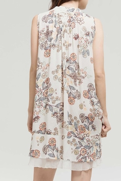 Blu Pepper Tan Floral Dress - Alternate List Image