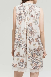 Blu Pepper Tan Floral Dress - Side cropped
