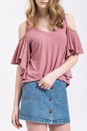 Blu Pepper Twirl Cold-Shoulder Top - Product Mini Image