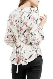 Blu Pepper V-Neck Floral Top - Front full body