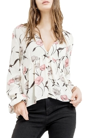 Blu Pepper V-Neck Floral Top - Front cropped