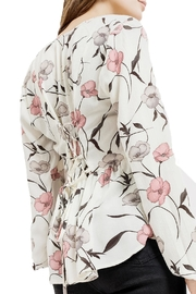 Blu Pepper V-Neck Floral Top - Back cropped