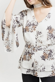 Blu Pepper White Floral Blouse - Back cropped