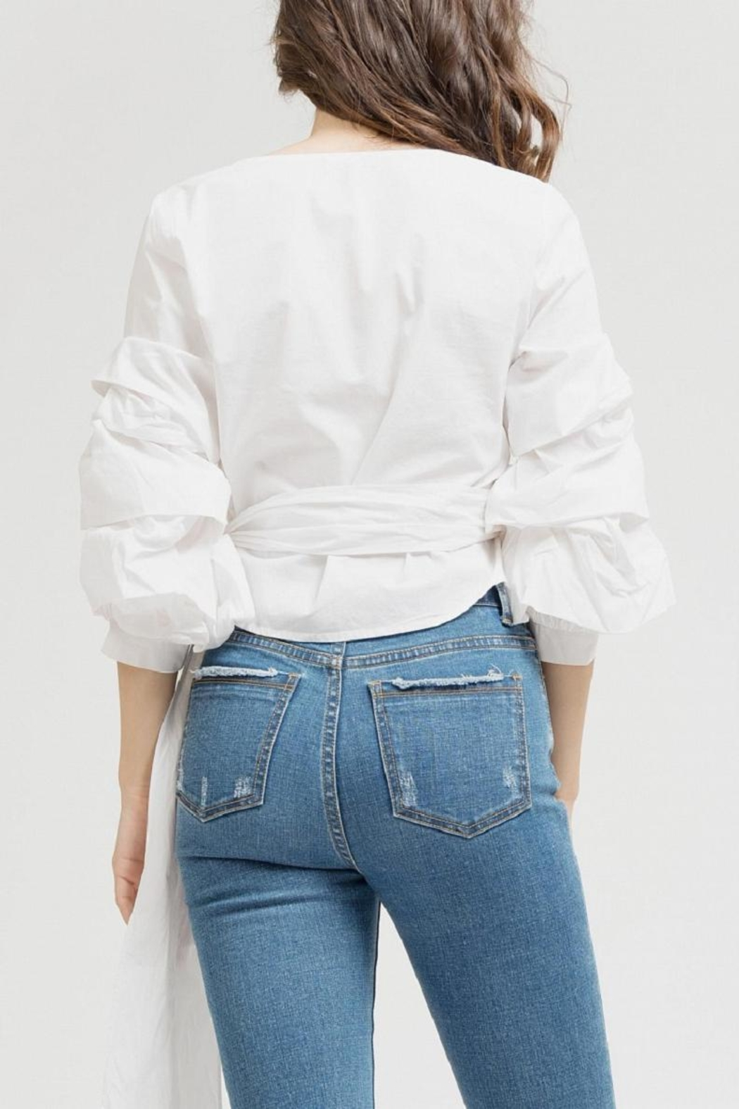 Blu Pepper White Wrap Top - Side Cropped Image