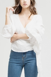 Blu Pepper White Wrap Top - Product Mini Image