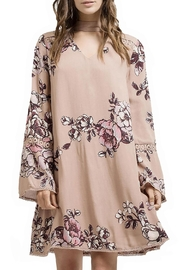 Blu Pepper Woven Floral Dress - Front cropped