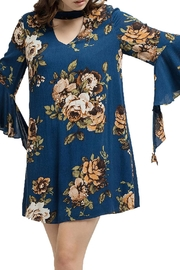 Blu Pepper Woven Floral Dress - Back cropped
