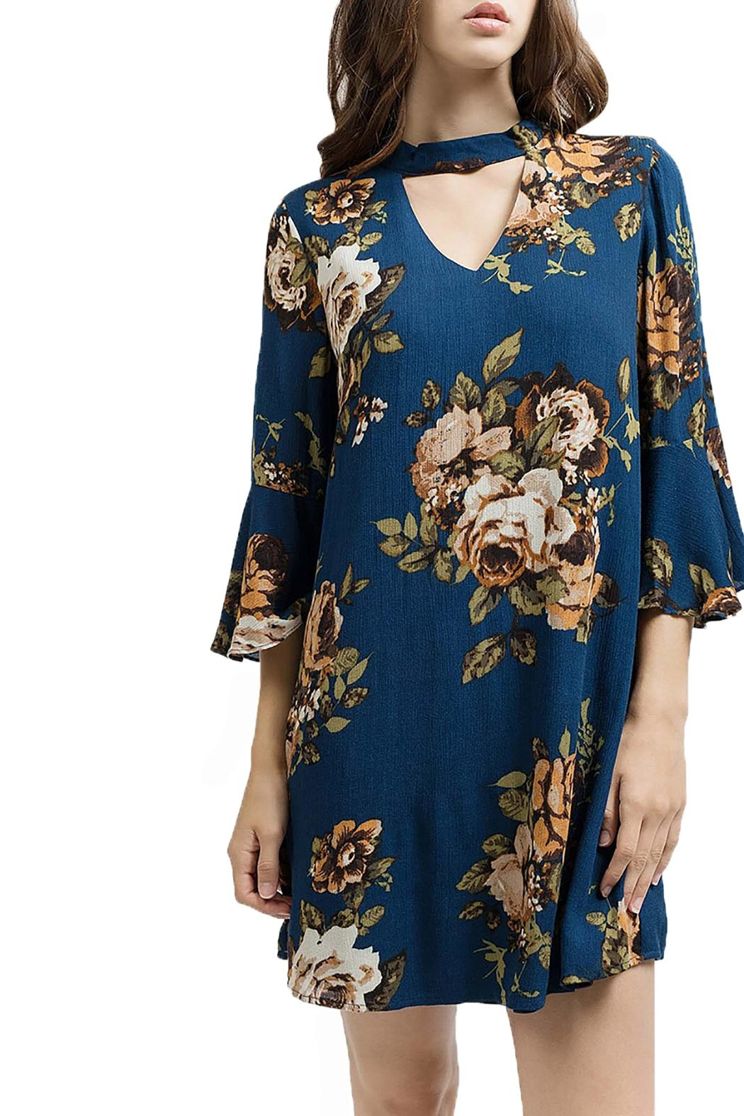 Blu Pepper Woven Floral Dress - Front Cropped Image