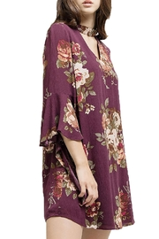 Blu Pepper Woven Floral Dress - Front full body