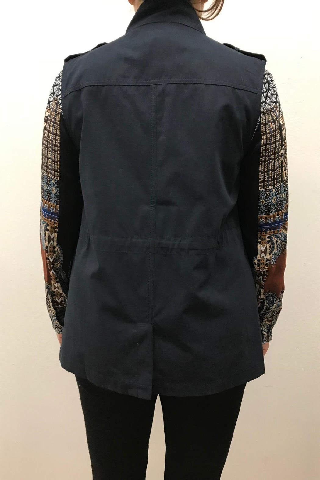 Blu Pepper Woven Vest - Side Cropped Image