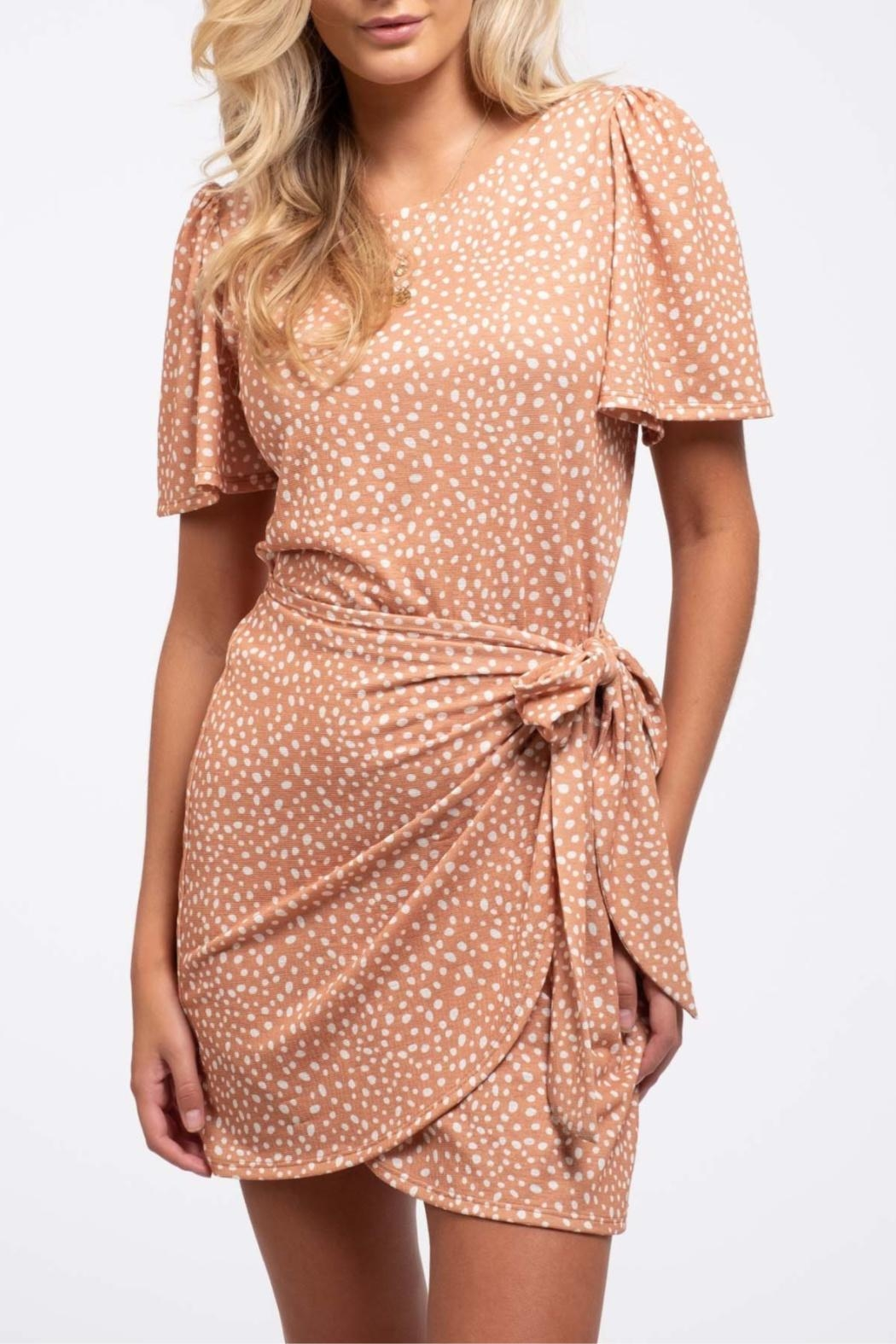 Blu Pepper Wrapped-In-Dots Dress - Main Image
