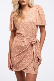 Blu Pepper Wrapped-In-Dots Dress - Front cropped