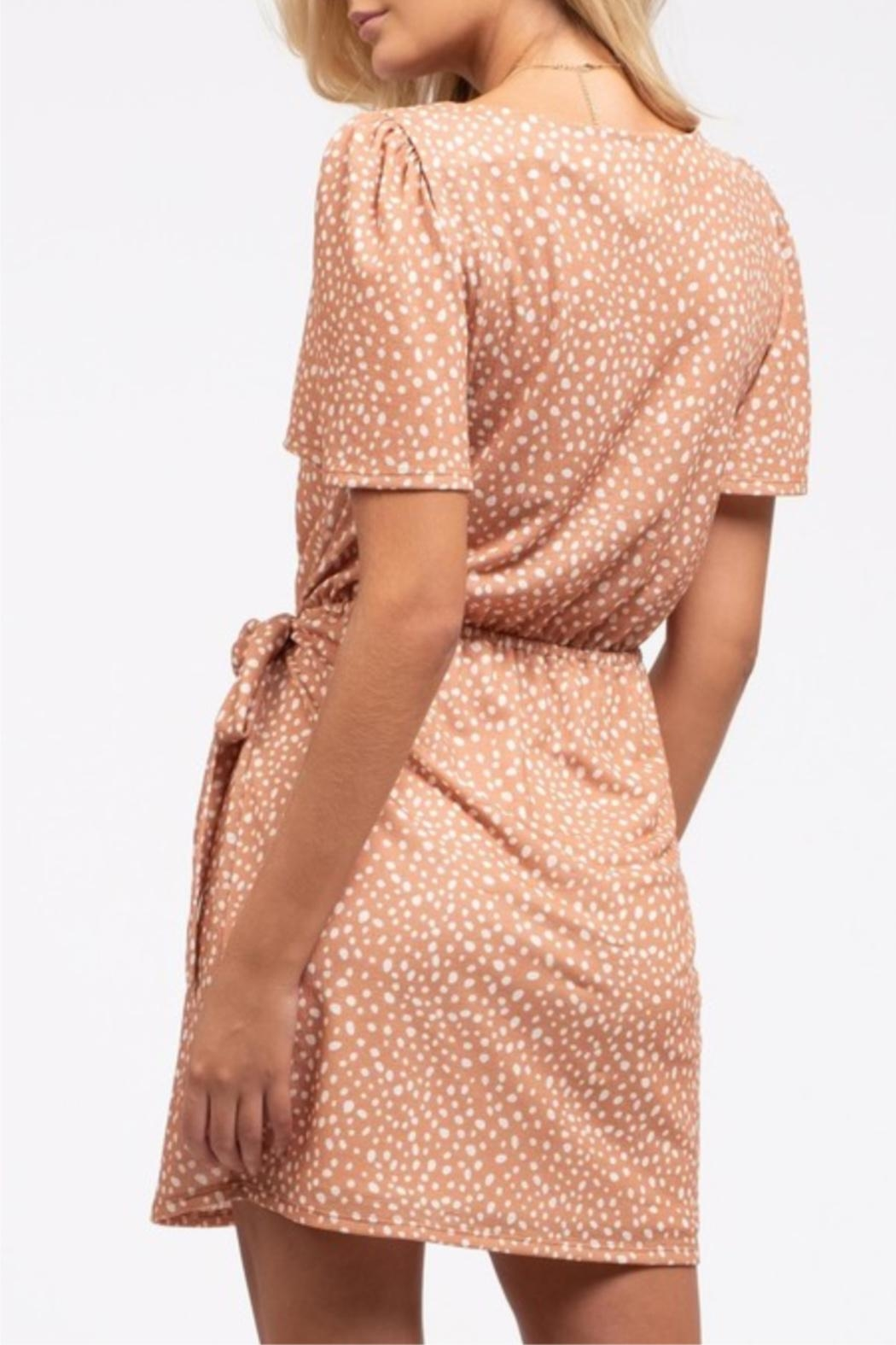 Blu Pepper Wrapped-In-Dots Dress - Front Full Image
