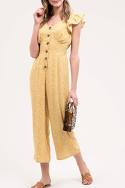Blu Pepper Yellow Floral Jumpsuit - Front cropped