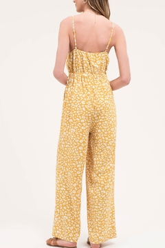 Blu Pepper Yellow Leopard Jumpsuit - Alternate List Image