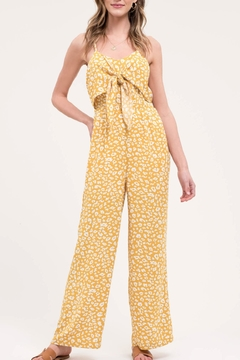 Blu Pepper Yellow Leopard Jumpsuit - Product List Image