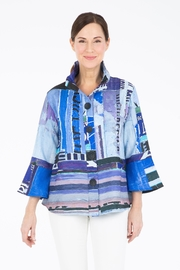 Damee Blue Abstract Jacket - Product Mini Image