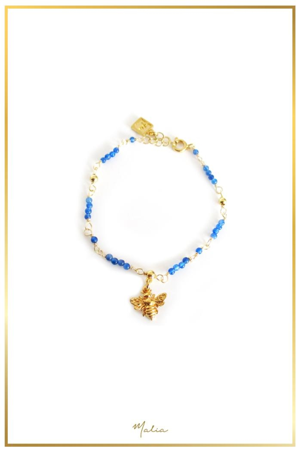 Malia Jewelry Blue-Agate Bee Bracelet - Main Image