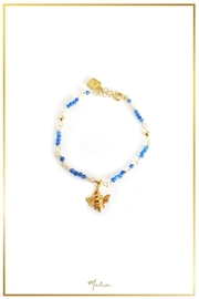 Malia Jewelry Blue-Agate Bee Bracelet - Front cropped