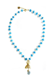 Malia Jewelry Blue-Agate Bee Necklace - Front cropped