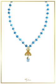 Malia Jewelry Blue-Agate Bee Necklace - Product Mini Image