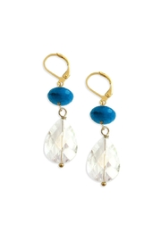 Malia Jewelry Blue-Agate Crystal Earrings - Product Mini Image