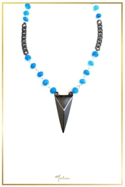 Malia Jewelry Blue-Agate Peak Necklace - Product Mini Image