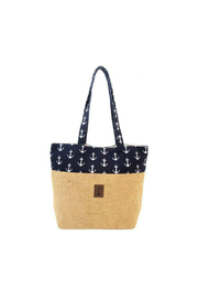 DEI BLUE ANCHOR JUTE TOTE - Product Mini Image