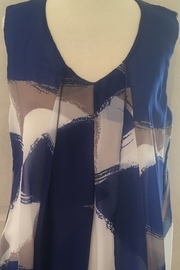 Michael Tyler Blue and tan overlay with cream tank - Product Mini Image