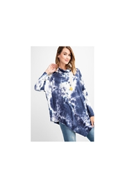 RAE MODE Blue and white asymmetrical tie dye long sleeve knit - Front cropped