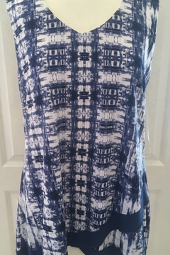 Shoptiques Product: Blue and white Flowy tank