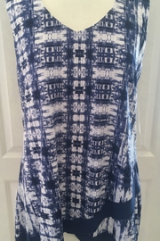 Michael Tyler Blue and white Flowy tank - Product Mini Image