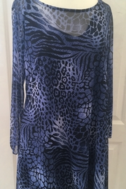 Staples Blue Animal Print Sheer Tunic - Product Mini Image