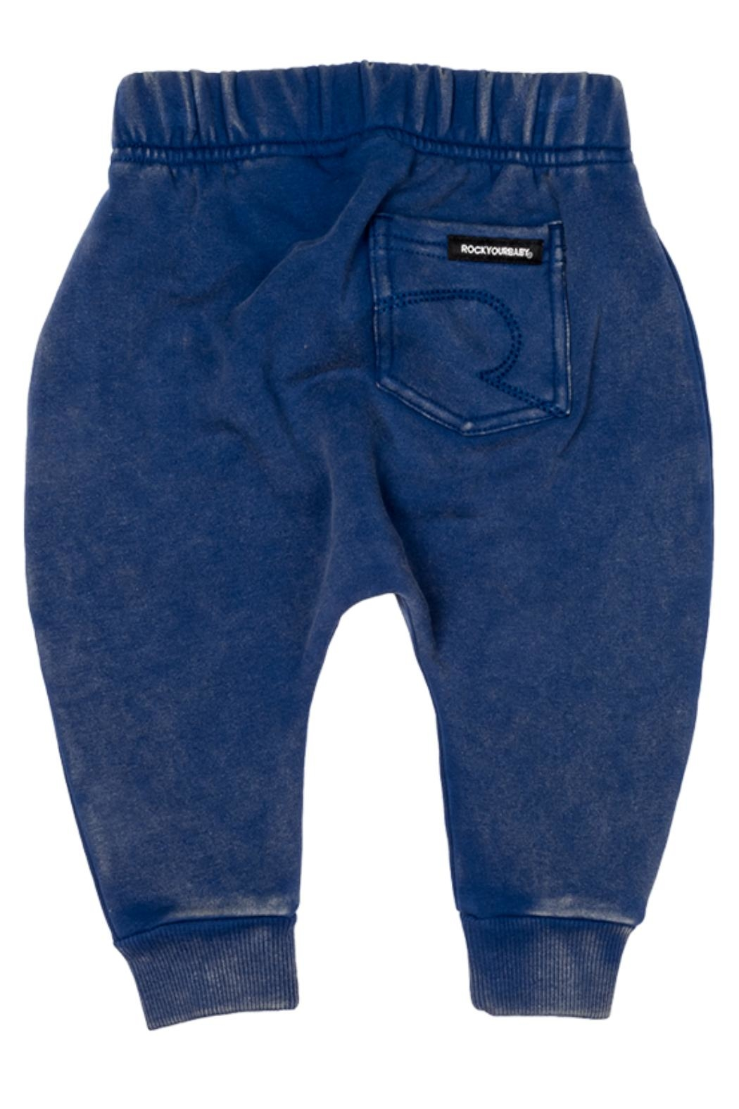 Rock Your Baby Blue Baby Trousers - Front Full Image