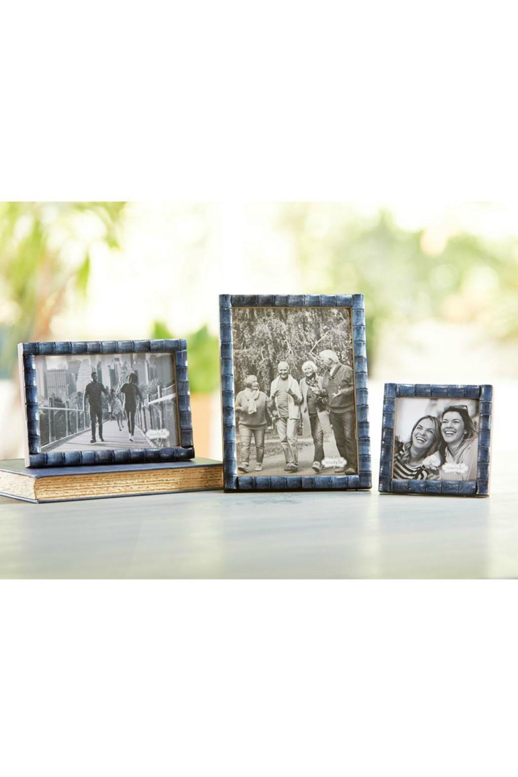 Mud Pie Blue Bamboo Frame-Large - Front Full Image