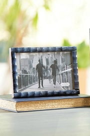 Mud Pie Blue Bamboo Frame-Medium - Product Mini Image