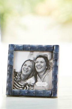 Mud Pie Blue Bamboo Frame-Small - Product List Image