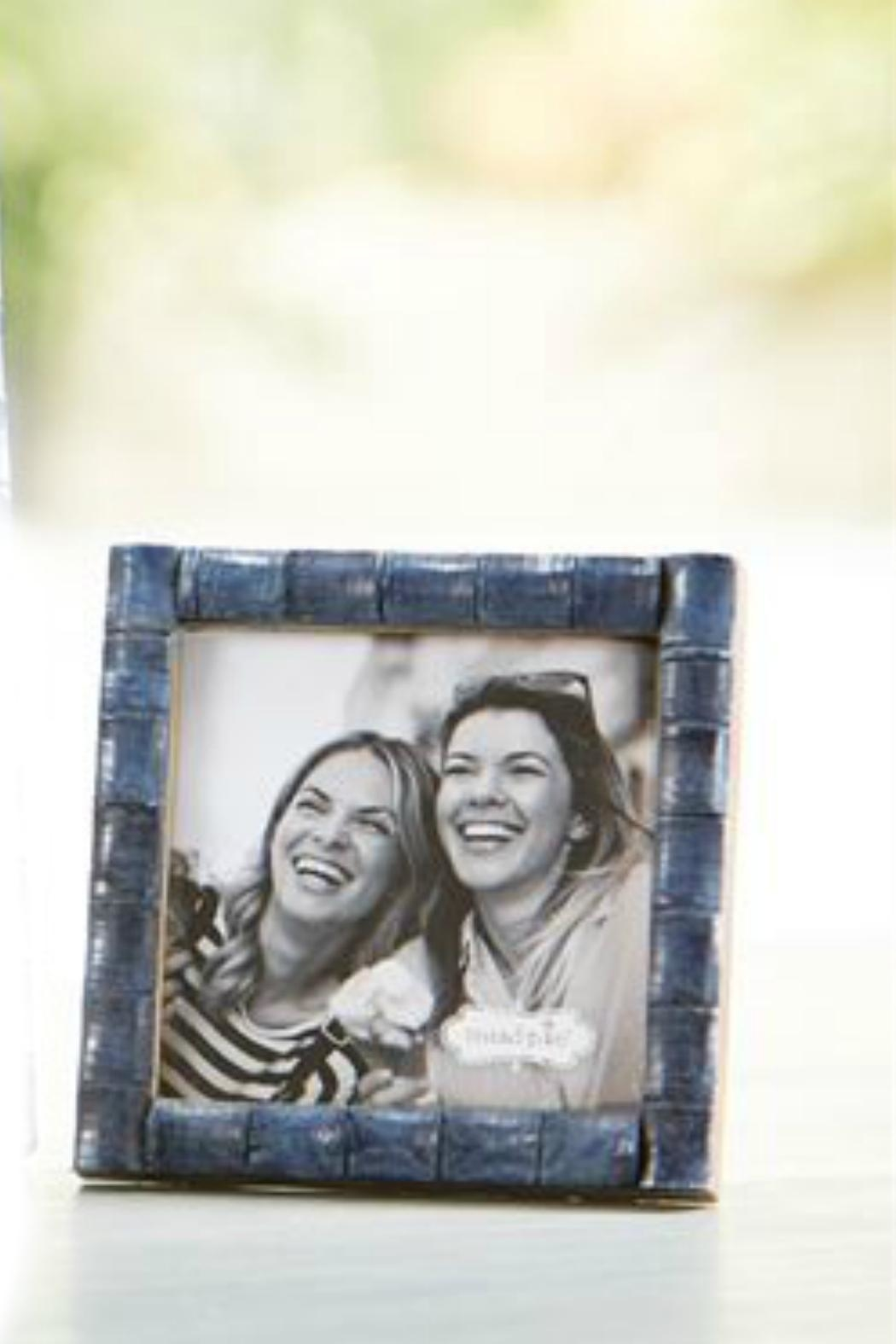 Mud Pie Blue Bamboo Frame-Small - Main Image