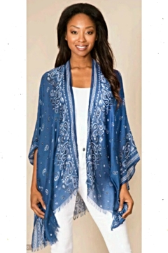 Shoptiques Product: Blue Bandanna Wrap