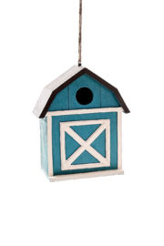Giftcraft Inc.  Blue Barn Birdhouse - Product Mini Image