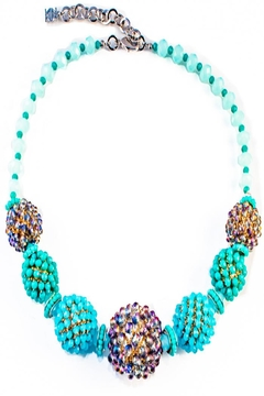 Shoptiques Product: Blue Beaded Necklace