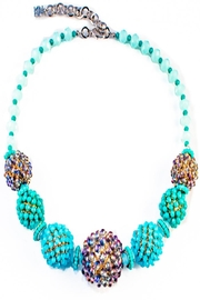 Rush by Denis & Charles Blue Beaded Necklace - Product Mini Image