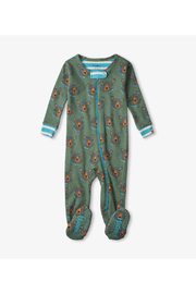 Hatley Blue Bears Organic Cotton Footed Coverall - Product Mini Image