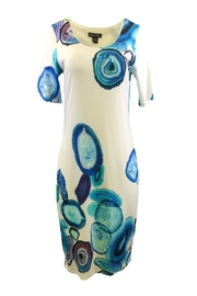 Michael Tyler Collections Blue/beige Dress - Product Mini Image