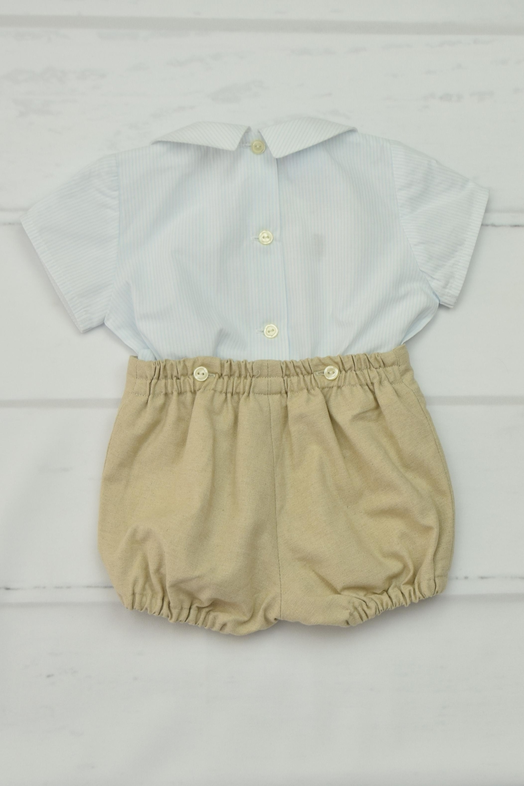 Granlei 1980 Blue & Beige Outfit - Front Full Image