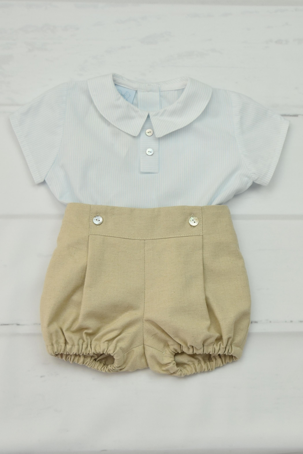 Granlei 1980 Blue & Beige Outfit - Main Image